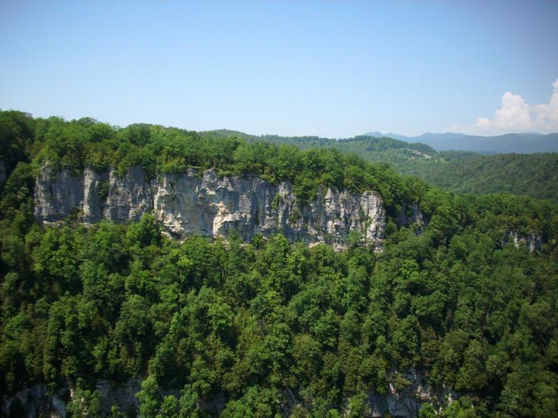 Вид на Белые скалы