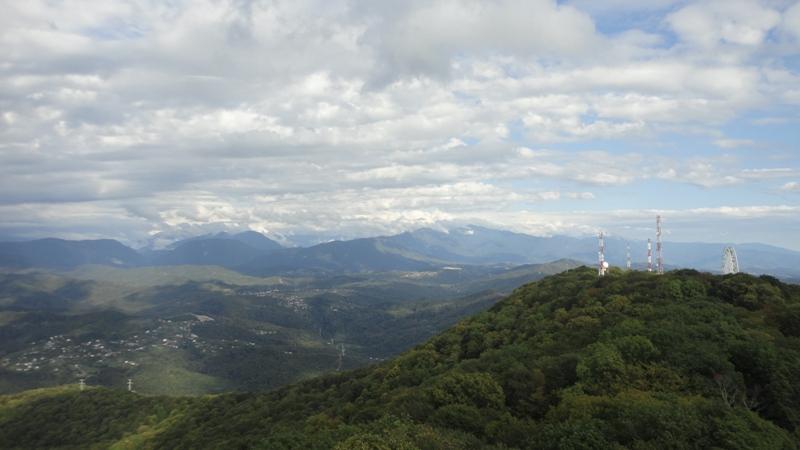 Вид с башни горы Ахун