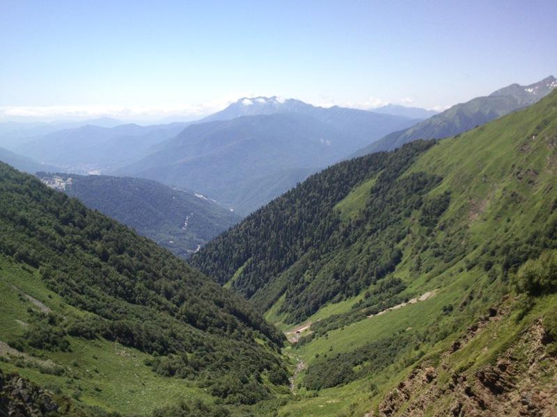 На экскурсионном маршруте в горы