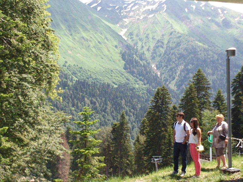 На экскурсиях в горы Красной Поляны